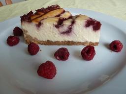 cheesecake mit himbeeren american cheesecake cheesecake k sekuchen. Black Bedroom Furniture Sets. Home Design Ideas