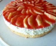 Topfen-Jogurth-Torte mit Äpfeln