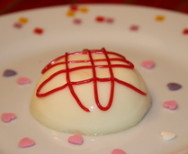 Pudding aus weißer Schokolade