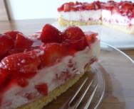 Erdbeer-Vanillejoghurt Torte