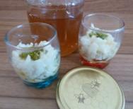 Milchreis mit Pistazien und Honig